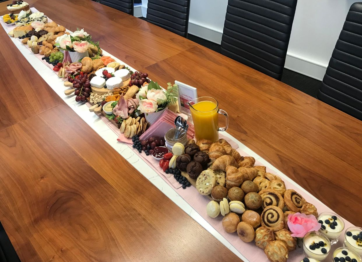 Nbcf Crest Breakfast Grazing Table